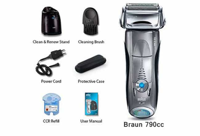 Braun series 7 790cc electric shaver what in the box