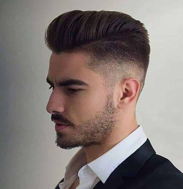 flat pompadour haircut