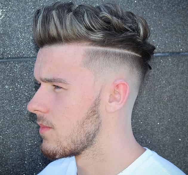 Quiff and Fade Hairstyle