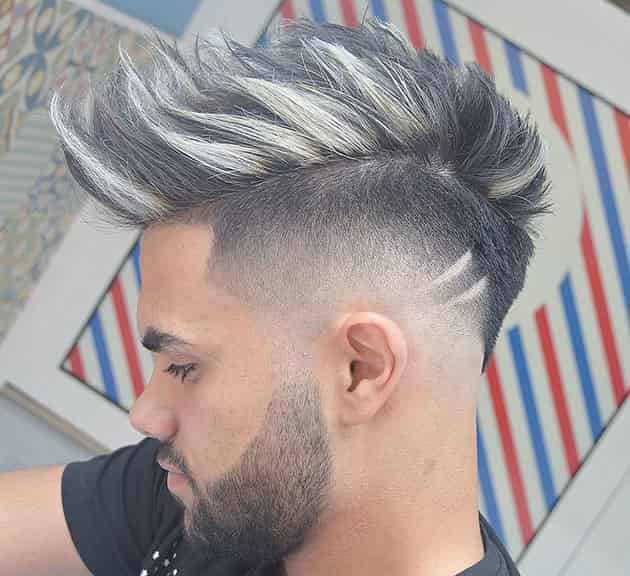 Spike Fade and Sheer Hairstyle