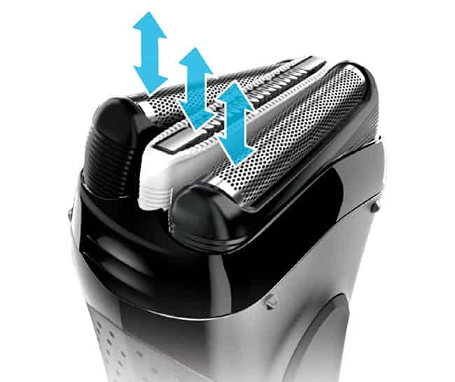 bruan series 3 3040s electric shaver skin-sensitivity