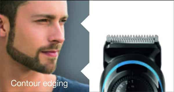 edging with braun bt3040 beard trimmer
