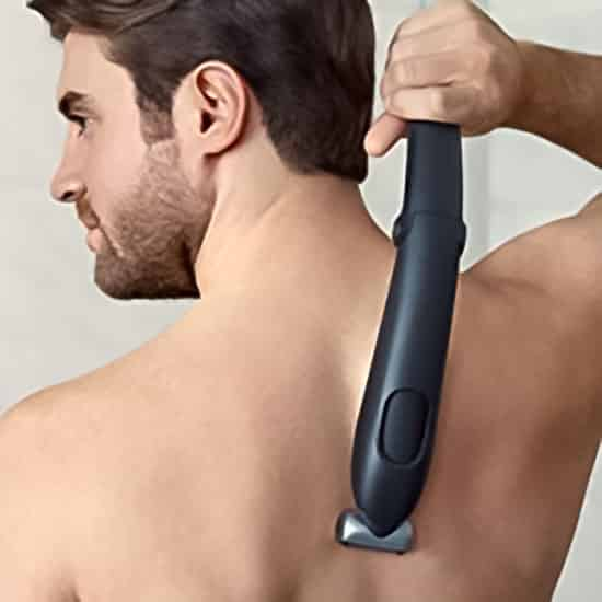 Back shaving attachment