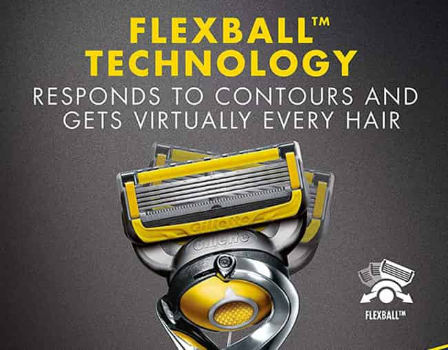 gillette fusion5 proshield razor flexball technology