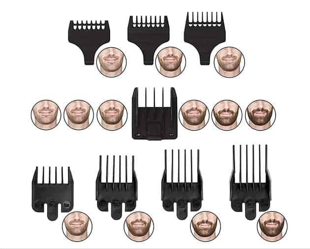 wahl groomsman beard trimmer adjustable combs
